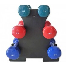 12kg Dumbbell Weights Set w/ Stand