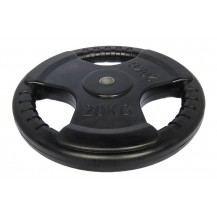 20KG Rubberize Tri-Grip Weight Plate