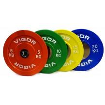 Vigor 100kg Pro Grade Bumper Plate set