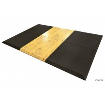 VersaFit Rubber for Olympic Weight Lifting Platform - Ultimate 2m x 3m - Black with Wood Series - Bevelled Edge